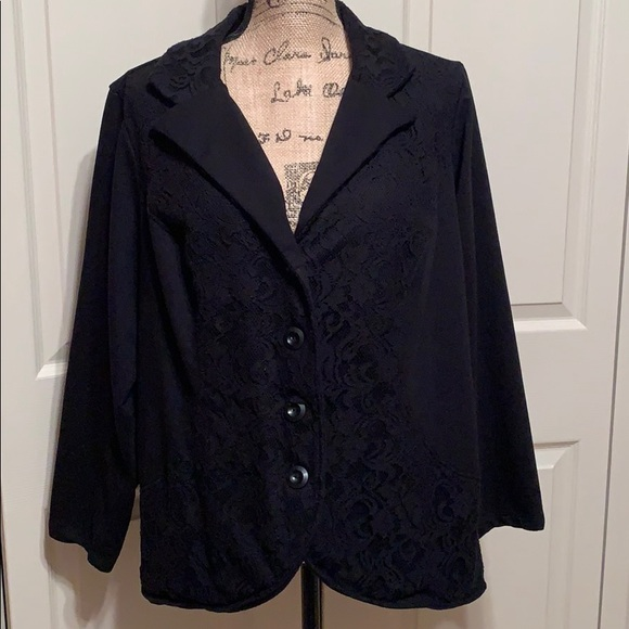 Style & Co Jackets & Blazers - Black lace button up blazer size 2x from Style co